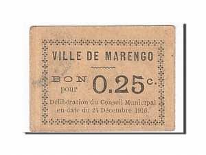 Algeria, Marengo, 25 Centimes, 1916 face