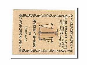 Algeria, Dra-El-Mizan, 5 Centimes, 1917-02-27 dos