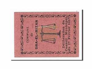 Algeria, Dra-El-Mizan, 10 Centimes, 1917-02-27 dos
