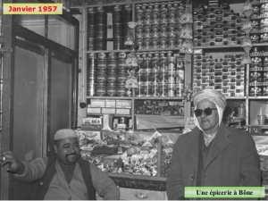 Janvier 1957 Une épicerie à Bône