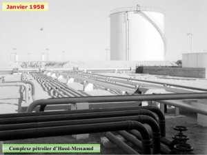 Janvier 1958 Complexe pétrolier d'Hassi-Messaoud