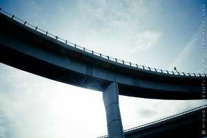 Les ponts des autoroutes à l'entrée de Boudouaou