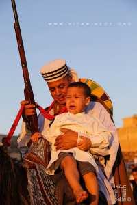 Cavalier avec son fils à la Waada d'El Malah وعدة المالح (W. Ain Temouchent)