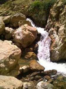 Cours d'eau Berbaga à Oued Taga (ex-Bouhmar) en Algérie