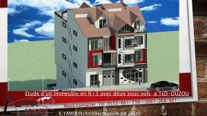 Etude d'un immeuble en R+3 avec comble et deux sous sols