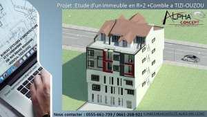 Etude d'un immeuble en R 2 comble sous sols