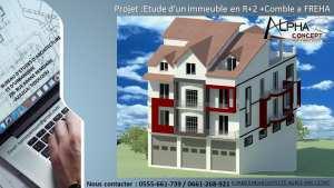 Etude d'un immeuble en R 2 comble