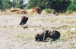 Le vautour affamé et l'enfant