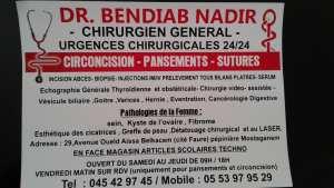 DR BENDIAB NADIR CHIRURGIEN