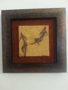 Dessin rupestre en mosaïque