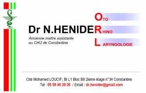 Dr HENIDER Naouel