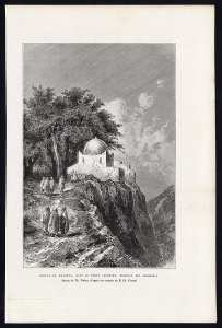 Antique Motif Afrique-Algérie-MAZOUNA ZAOUIA DAHRA-montagne-Reclus Barbant - 1886 -