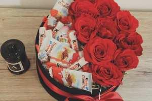 half chocolats and half flowers