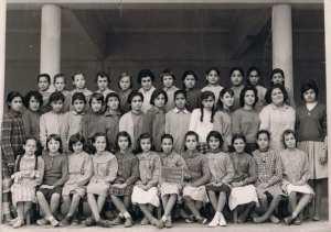 Ecole primaire de Cheragas le 22 février 1960 Classe CM2 et Certificat fin d'Etudes
