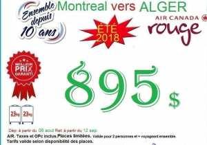 ALGER AVEC Air Canada à partir de 895$