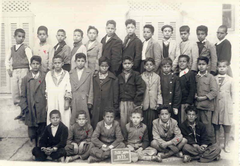 ECOLE PRIMAIRE LUCIEN CHALLONS DE BOUSAÂDA 1952 à 1953