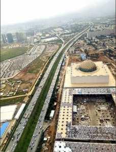 Vu aérienne sur la Grande Mosquée d'Alger