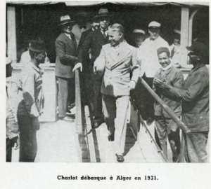Charlie Chaplin à Alger en 1931