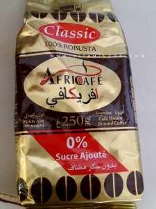 Nouvel emballage Africafé, 0% sucre ajouté