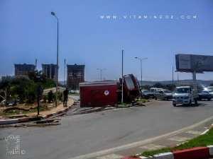 Un accident à la sortie de Tlemcen, camion des pompiers le 17.09.2016