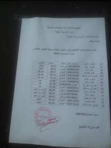 Félicitation à l'école primaire Imezgharen 100% de réussite
