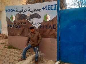 أمازيغ سعيدة يكتبون تيفيناغ في مدينة سعيدة الأمازيغية Berberes amazigh de saida