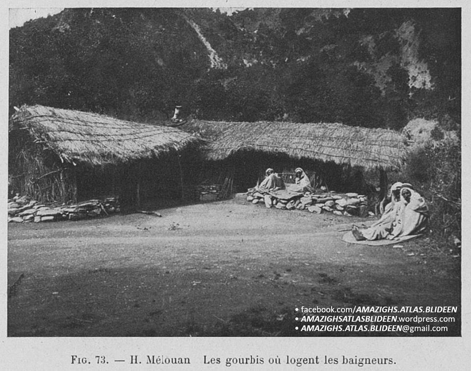 """photos rares datant de 1911 prises dans la localité de """"Ḥammam Melwan"""","""