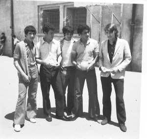 1970 - Dans la cour du lycée - Ibn sina