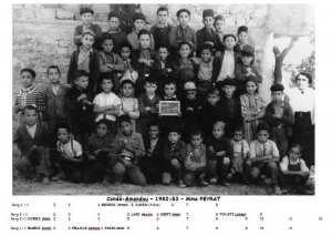 1953 - CP - Ecole communale de condé-smendou