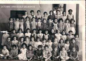 1955 - COURS PREPARATOIRE 1955 - Ecole de delmonte