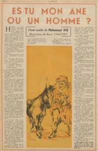 Es tu un âne ou mon homme? Conte inédit de Mohammed Dib
