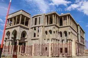 Sebdou Mosquée Saad Ibn Abi Waqas lors de sa construction