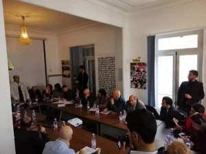 🔴مجموعة من #الناشطين على رأسهم #سعد_بوعقبة و #فضيل_بومالة يعقدون اجتماع من اجل الخروج بحلول لتمثيل الحراك الشعبي