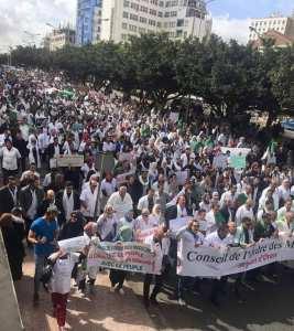 #الآن مسيرات حاشدة بالمآزر البيضاء في مدينة وهران يقوم بها الأطباء و الممرضين و عمال قطاع الصحة ضد العصابة البوتفليقية و التمديد .