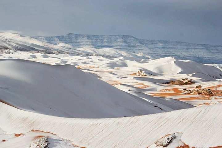 Algérie - Ain Safra et ses dunes de sable sous la neige !