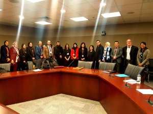 Une délégation de 10 diplômés algériens de la 47ème promotion de l'École Nationale d'Administration d'Algérie, en visite à Ottawa