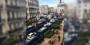 Révolte populaire : impressionnant dispositif sécuritaire pour quadriller Alger-Centre