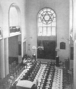 Interieur de la synagogue de Tlemcen