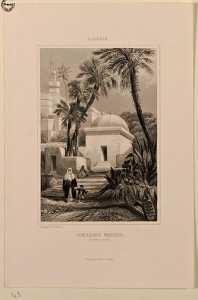 Algérie.Tombeaux Maures. (à Bab-el-Oued) », gravée par Rouargue frères, publiée par Furne à Paris en 1846.