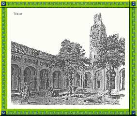 Croquis gravure de la grande mosquée de Tlemcen