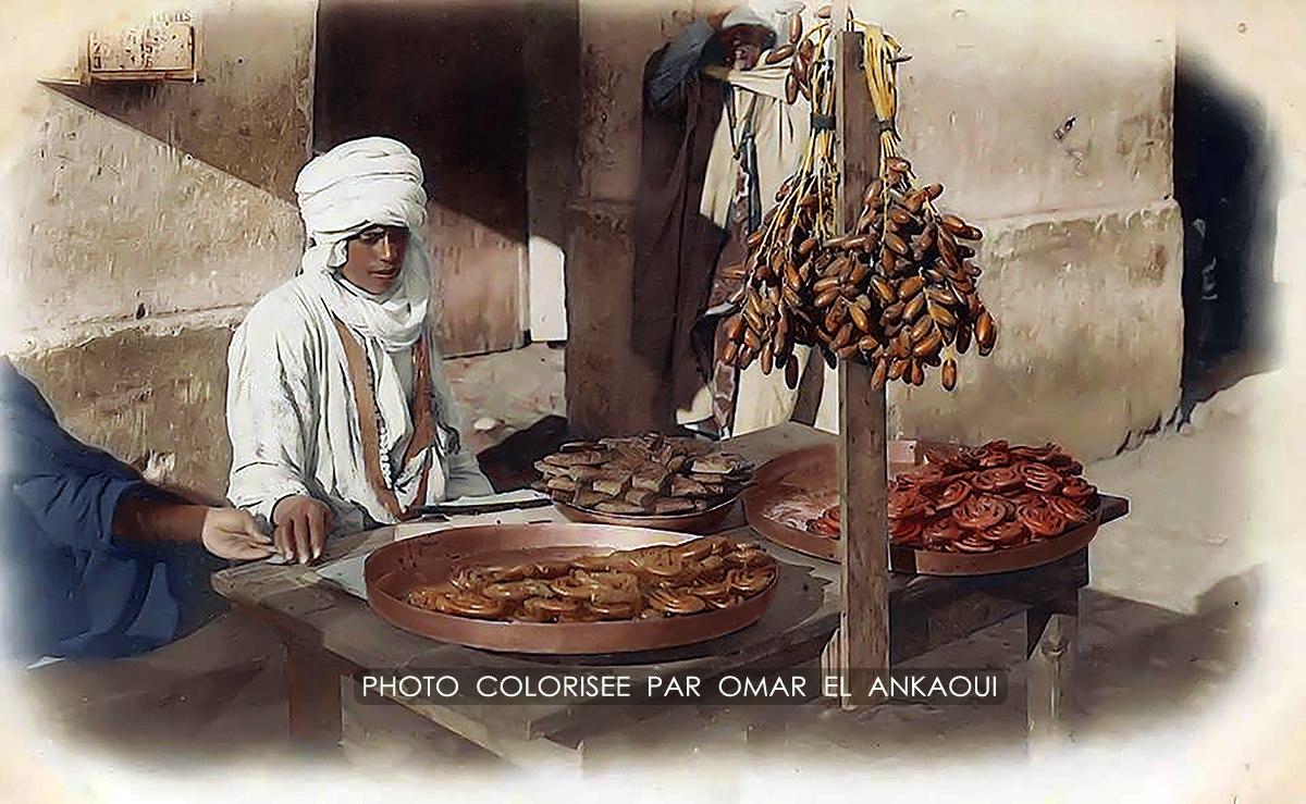 vendeur de zlabia à biska en 1900