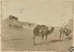 [Une caravane] (Photo rare)