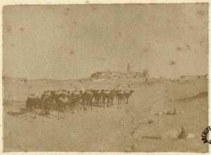 [Une caravane et une ville du Mzab] (Photo rare)