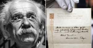Einstein écrivit