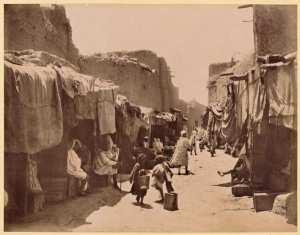 Sahara algérien. Une rue de Sidi-Okba  (Photo rare)