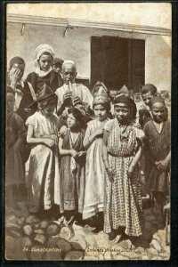 Constantine enfants arabes et juifs