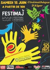 Programme du festival international de films d'écoles (Festimaj) à la cinémathèque Algérienne