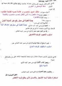 تصحيح امتحان العربية الموضوع 1 بكالوريا 2019 شعبة علمية