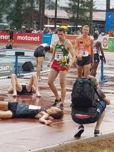 الجيجلي بلال #ثابتي يحلق عالياً في سماء فنلندا ويحتل المرتبة الأولى في سباق 3000 متر موانع