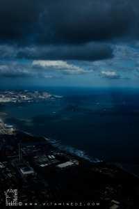 Vue aérienne sur la baie d'Alger